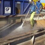 blasting of deck before coating