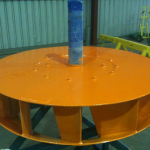 Pre balanced coated hot air impeller RU 500