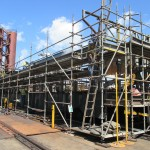 Access provided for fabrication & coating repairs