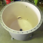 Flange face rebated to allow for coating application & prevent crevice corrosion