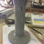 Abrasive blasted and primed internal and external