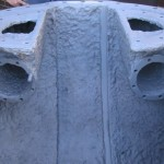 Degree of pitting after repetitive hot wash and abrasive blasting