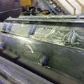 Galvanised steel ready for protective coating