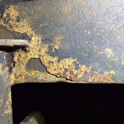 Corrosion in ballast tank before coating