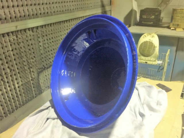 The durability of this coating is due to the ceramic filled coating