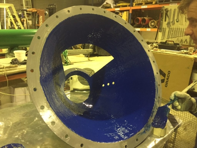 Chemco abrasive resistant coating completed