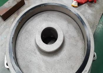 Pump component after abrasive blasting