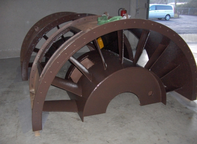 Nuclear impellers restored using Hot-cote 900