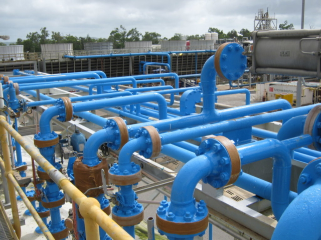 Wet, cold sweating pipes coated by Chemco