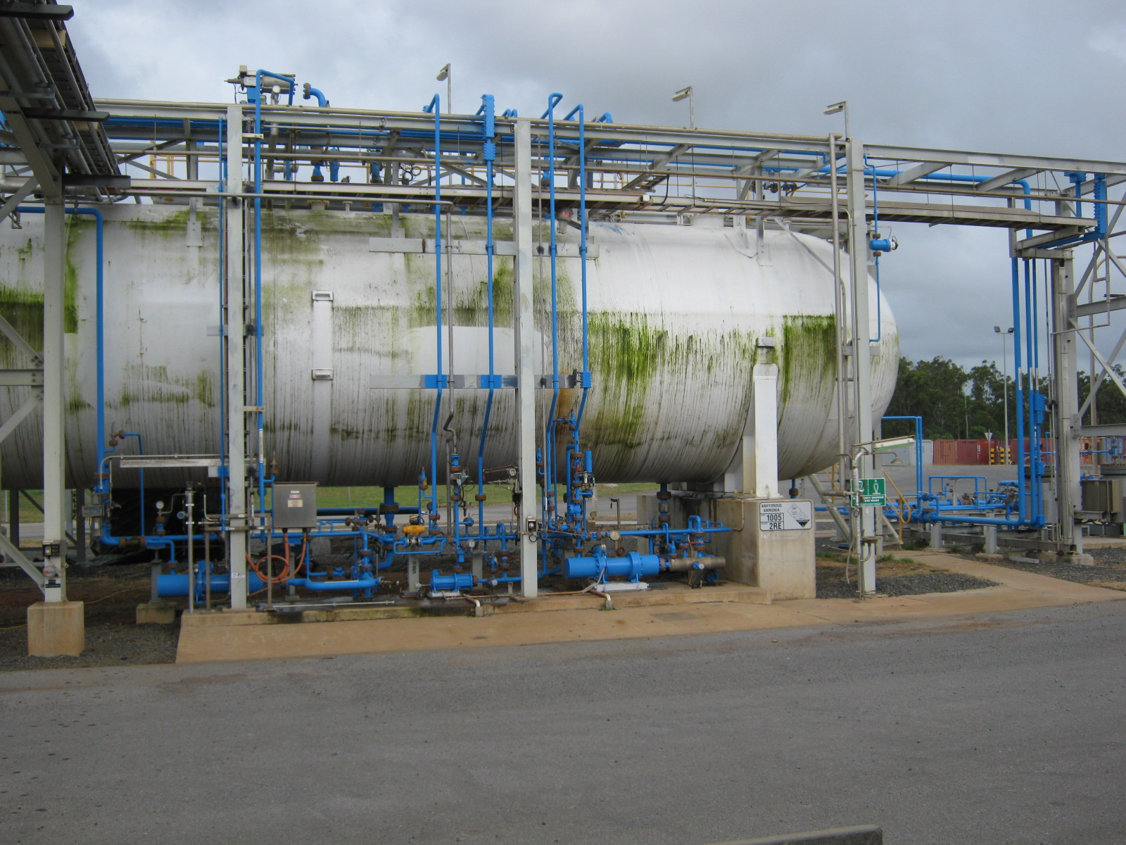 Ammonia pipes protected by Chemco