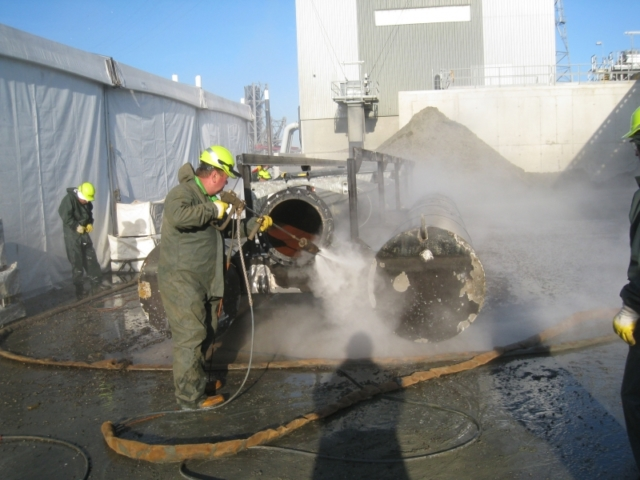 Water blasting surface preparartion