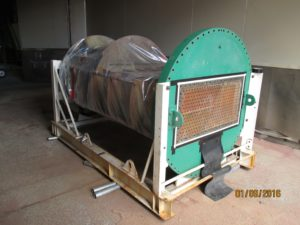 Tube bundle protection ready for abrasive blasting