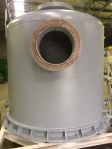 Dome after blasting and coating