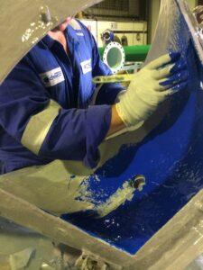 Matcon Valve applying coating